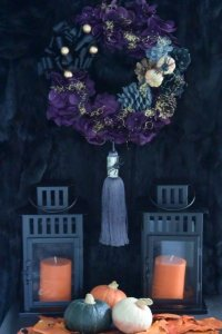 Tassel Halloween Wreath