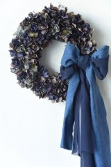 Denim Ribbon Wreath