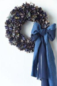 Denim Ribbon Wreath
