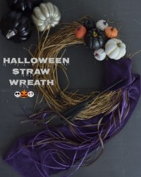 Halloween Straw Wreath