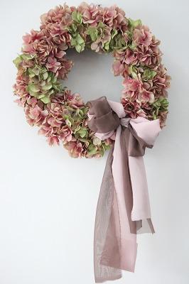 画像1: MauvePink Wreath