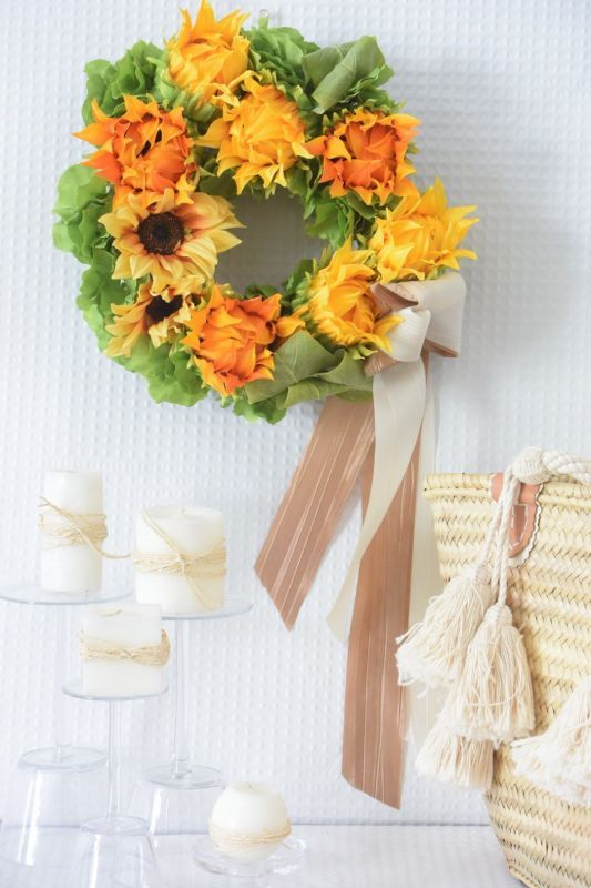 画像1: Sun Flower Wreath